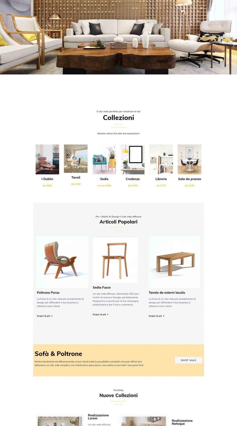 Arredamento di Design Soluzioni Digitali Online Sito Web Creare Realizzare siti Web SEO efficace Marketin Responsivo Col1