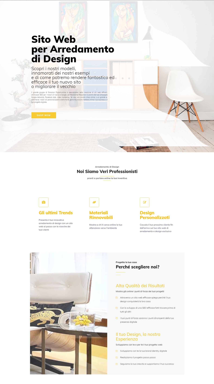 Sito Web per Arredamento di Design Soluzioni Digitali Online Sito Web Creare Realizzare siti Web SEO efficace ecommerce Marketing H01