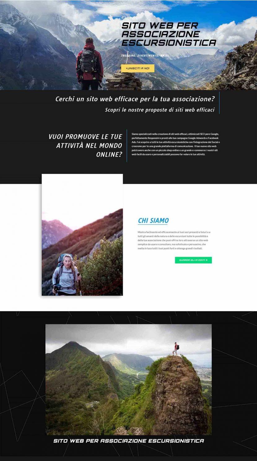 Sito Web per Associazione Escursionistica Rom Soluzioni Digitali Online Creare Realizzare siti Web SEO efficace ecommerce H